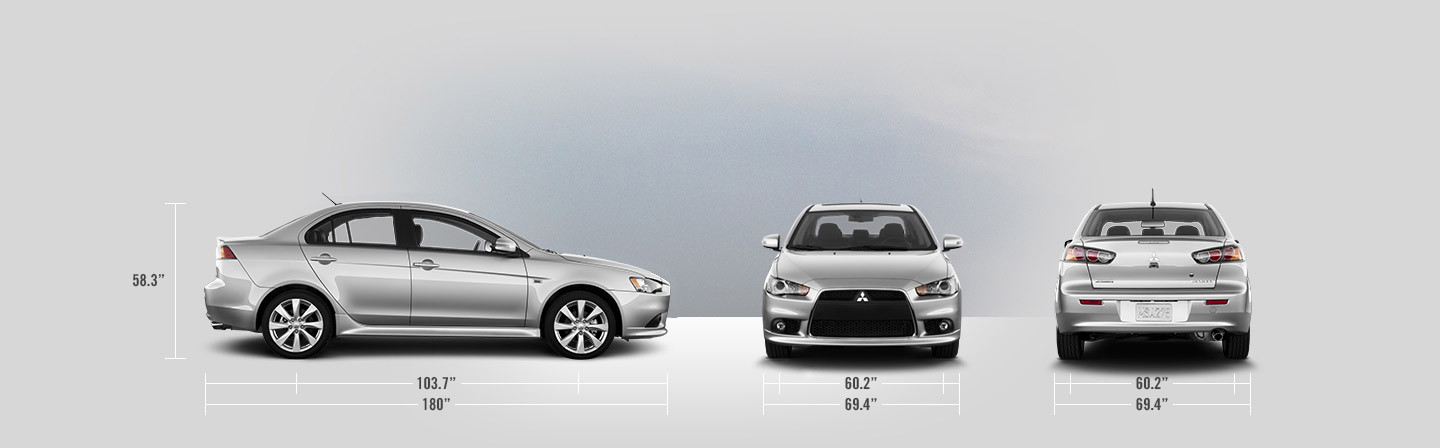 2015 Mitsubishi Lancer measurements