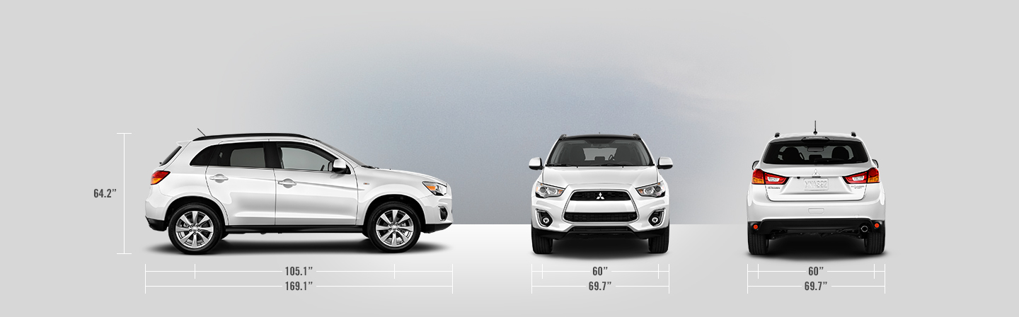 2015 Mitsubishi Outlander Sport measurements