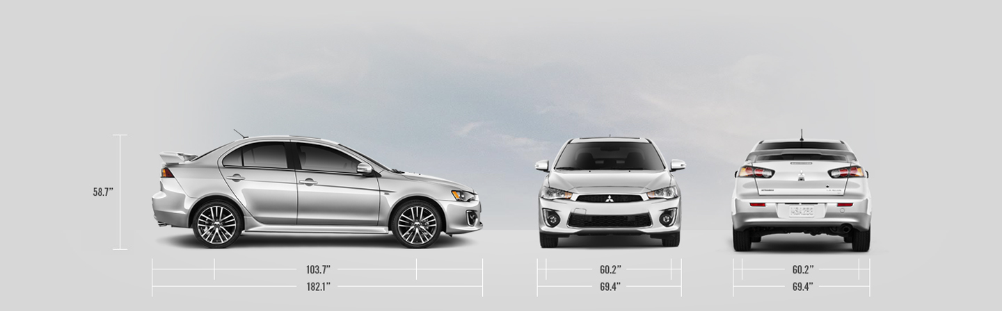 2016 Mitsubishi Lancer measurements