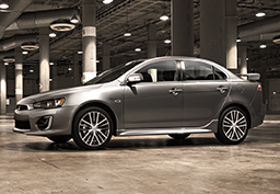 Lancer has a new look for 2016, with a newly designed grille and front fascia, wheels and LED running lights
