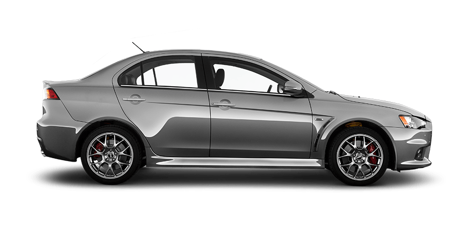 Mercury-gray 2015 Mitsubishi Lancer Evolution Exterior 360 View