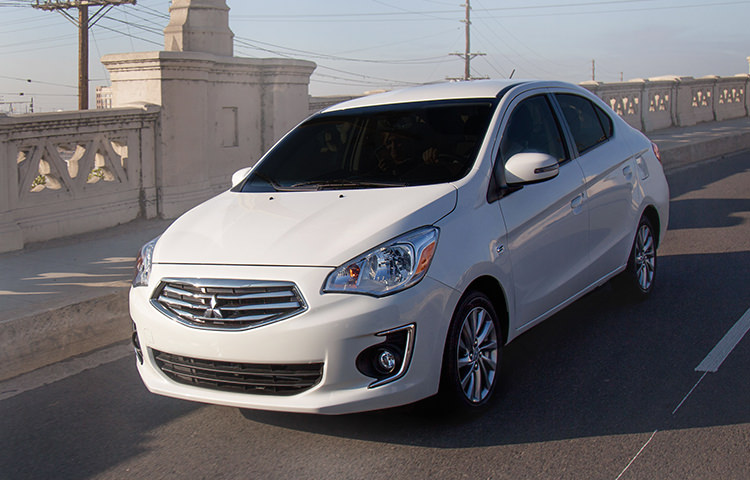Mitsubishi Mirage G4 driver using Cruise Control for Comfort