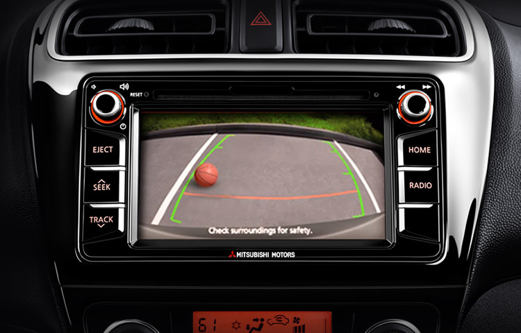 2017 Mitsubishi Mirage G4 Safety features rearview camera display