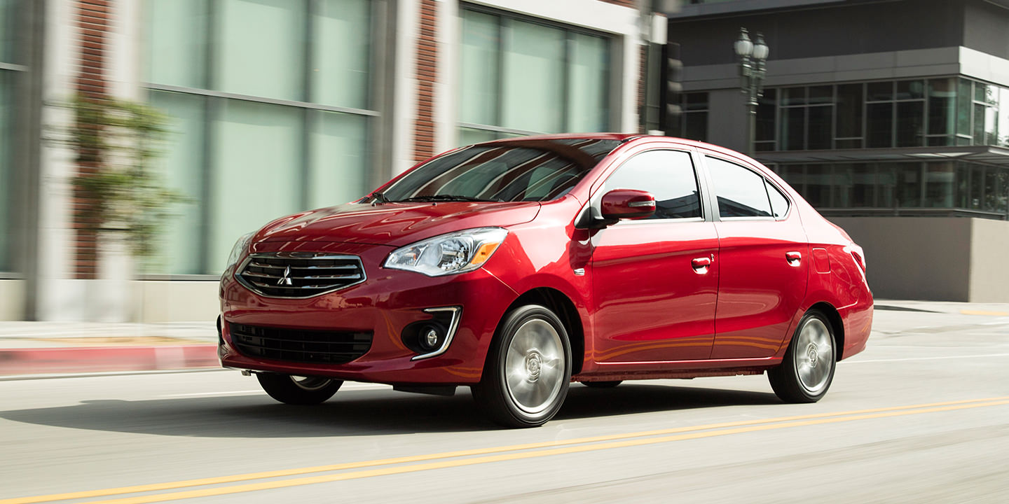 2017 infared Mitsubishi Mirage G4 subcompact sedan Exterior