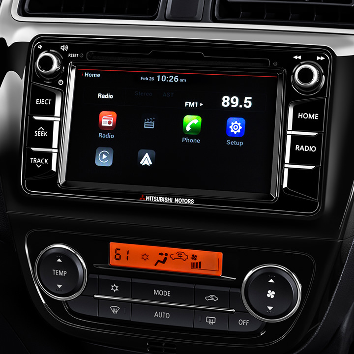 2017 Mitsubishi Mirage G4 interior Connect touch screen with apple carplay or android auto
