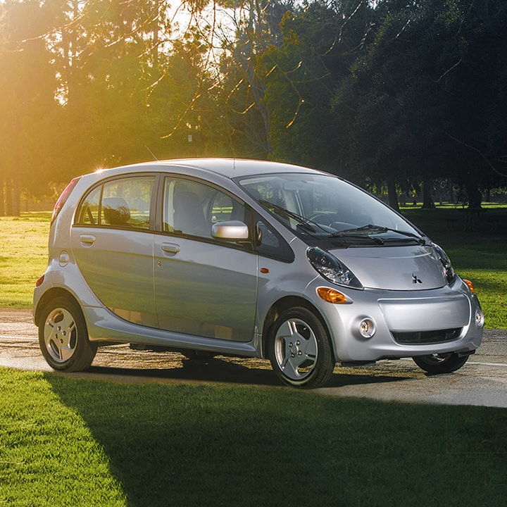 Cool silver 2017 Mitsubish imiev outdoors in sun