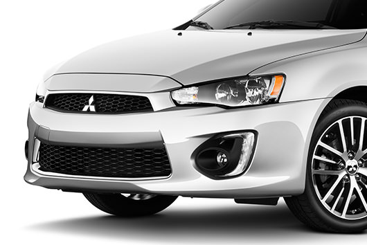 "Arrive in style with Lancer's signature 18"" two-tone alloy wheels, available on SE and SEL."