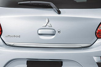 chrome tailgate garnish and accessory for 2017 Mitsubishi Mirage