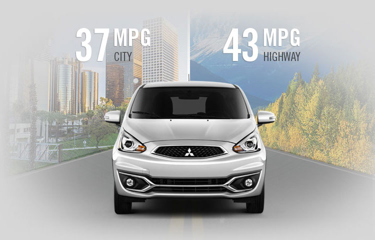 most efficient non hybrid 2017 Mitsubishi Mirage hatchback