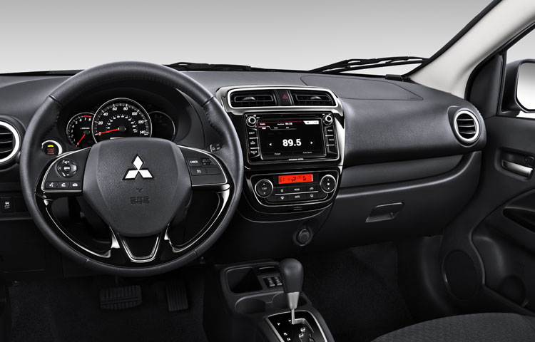 2017 Mitsubishi Mirage bluetooth center console and cabin smartphone link