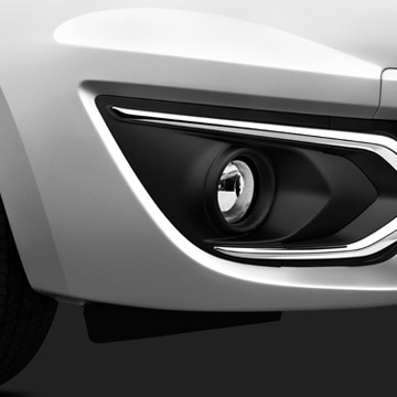 2017 Mitsubishi MIrage chrome accented fog lights on front end exterior