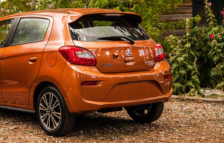 The 2017 Mirage is ready for short errands and road trips alike, with up to 47.0 cubic feet of cargo room.