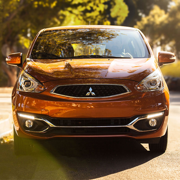 2017 Mitsubishi Mirage exterior front grill and headlights