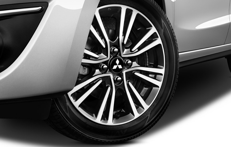 "Ride in style with newly designed 15"" wheels on the 2017 Mirage GT."