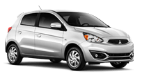 2017 Mitsubishi MIrage in Starlight Silver thumbnail