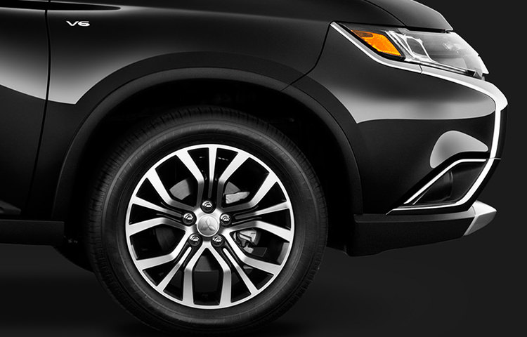 "Stand out on the road with new 18"" two-tone alloy wheels standard on the 2016 Outlander."