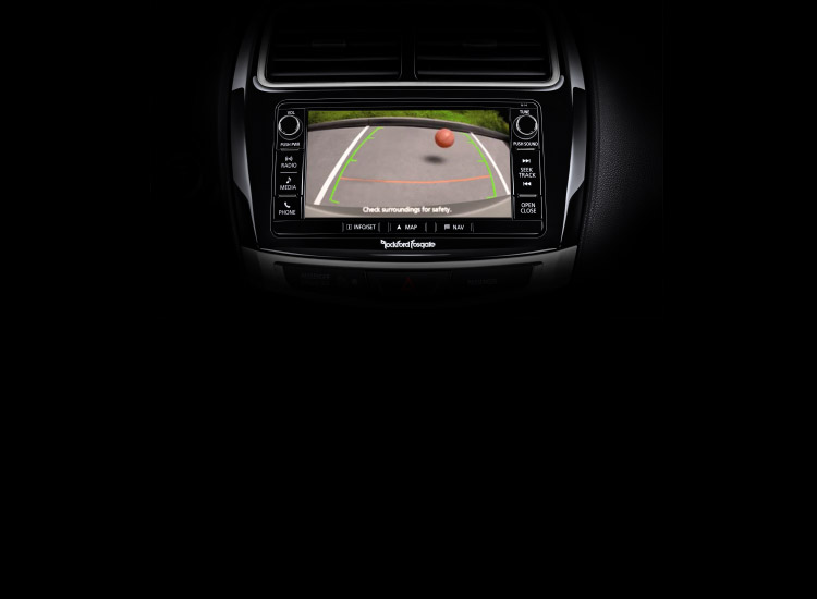 rearview camera on touchscreen display in 2016 MItsubishi Outlander top safety pick