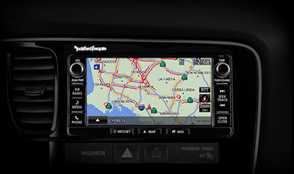 navigation system on touchscreen display in 2016 MItsubishi Outlander SUV