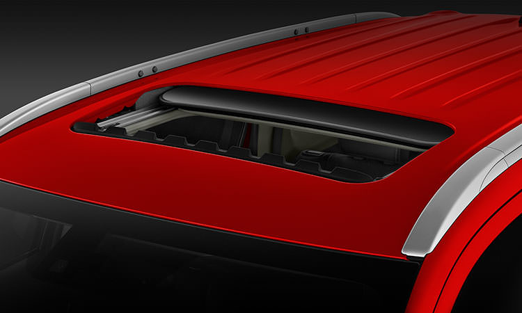 sunroof on 2016 Mitsubishi Outlander CUV in rally red