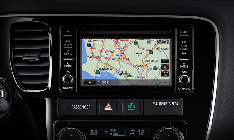 7 inch navigation system in 2016 Mitsubishi Outlander CUV