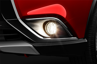 Mitsubishi Outlander rally red fog light accessory