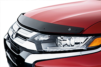 hood protector on 2017 Mitsubishi Outlander rally red Crossover SUV