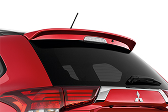 large rear spoiler on 2017 Mitsubishi Outlander Crossover SUV