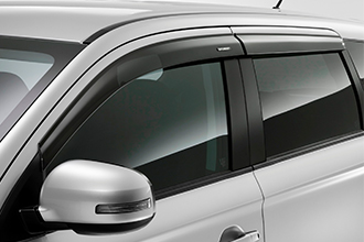 side wind deflectors above windows on 2017 Mitsubishi Outlander CUV
