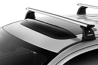 sunroof wind deflector accessory on 2017 Mitsubishi Outlander