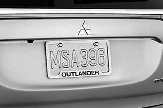 2017 Mitsubishi Outlander license plate frame accessory