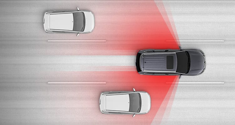 Blind Spot Warning Safety in 2017 Mitsubishi Outlander