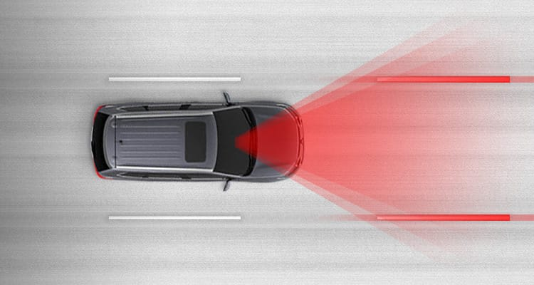 Lane Departure Warning Safety in 2017 Mitsubishi Outlander
